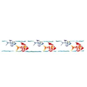 BRICO Self-adhesive stencil Fish 11 x 70 cm