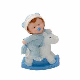 Baby Gyngehest blå 10,5cm