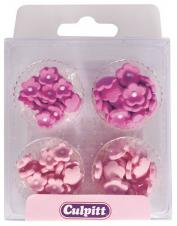 mini flowers pink sugar piping 100stk