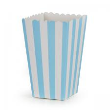 boks popcorn lysblå 6stk