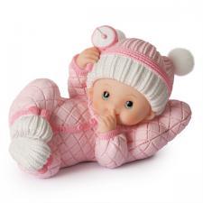 baby liggende rosa 15x10cm