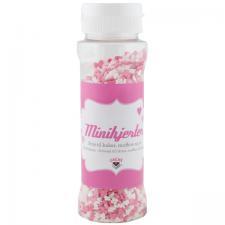 Hjerte mini mix rosa/hvit 100g