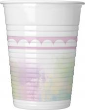 Drikkekrus I Plast, Enhjørning Pastell 8 Stk