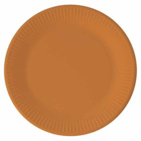 Papptallerken Orange 23 cm, 8 stk COMPOSTABLE