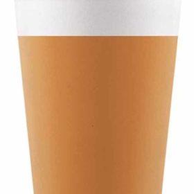 Drikkekrus i Papp Orange 8 stk COMPOSTABLE