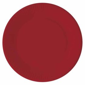 Papptallerken Rød 23 cm, 8 stk COMPOSTABLE