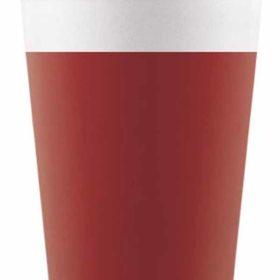 Drikkekrus i Papp Rød 8 stk COMPOSTABLE