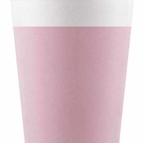 Drikkekrus i Papp Rosa 8 stk COMPOSTABLE