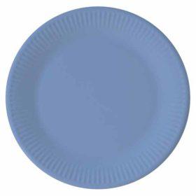 Papptallerken Blå 23 cm, 8 stk COMPOSTABLE
