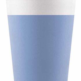 Drikkekrus i Papp Blå 8 stk COMPOSTABLE