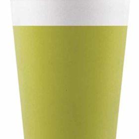 Drikkekrus i Papp Lime Grønn 8 stk COMPOSTABLE