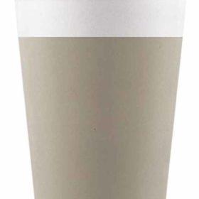 Drikkekrus i Papp Beige 8 stk COMPOSTABLE