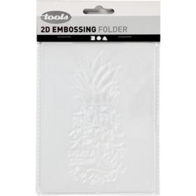 Embossing folder 11x14cm, pineapple