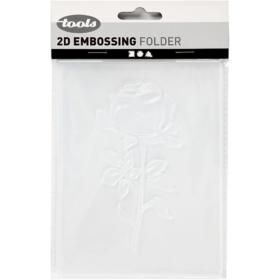Embossing folder 11x14cm, rose