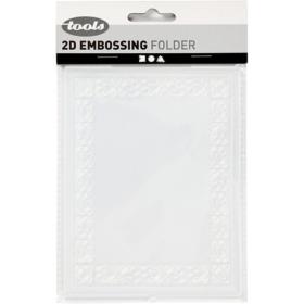 Embossing folder 11x14cm, ramme