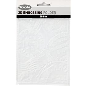 Embossing folder 11x14cm, stamp