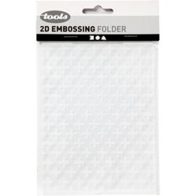 Embossing folder 11x14cm, kors