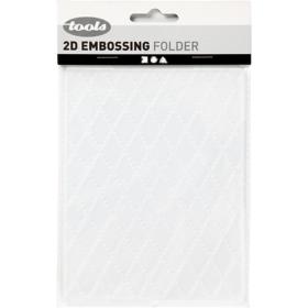 Embossing folder 11x14cm, rhombus
