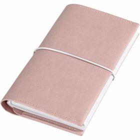 Kalender/planner m/strikk 10x18x1,5 cm, rosa
