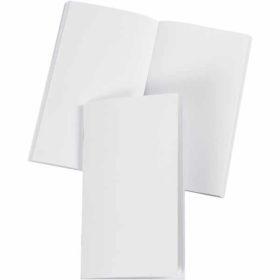 Notisbok, str. 9,5x16,6 cm, hvit, blank, 1stk