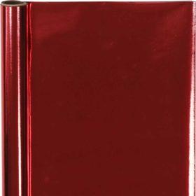 gavepapir 50cmx4m rød blank