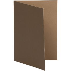 brevkort 10stk brun