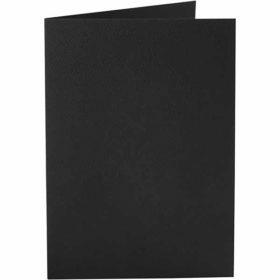 Kort 10,5x15cm 10stk svart