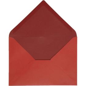 konvolutt 10stk rød