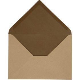 konvolutt 10stk brun