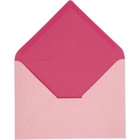 konvolutt 10stk rosa