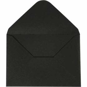 Konvolutt 11,5x16cm 10stk svart