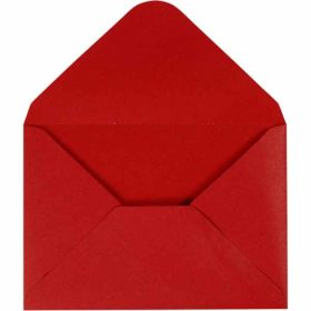 Konvolutt 11,5x16cm 10stk rød