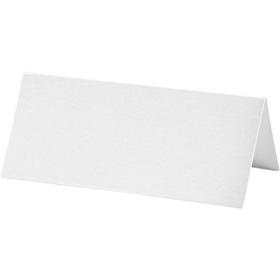 bordkort 25stk hvit