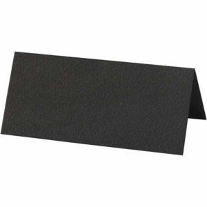 Bordkort 9x4cm, 10stk. sort