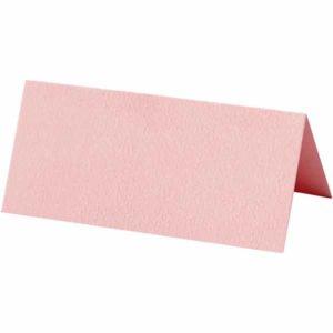 Bordkort 9x14cm, 10stk. rosa
