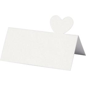 Bordkort 20stk hvit