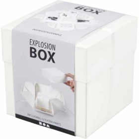 Eksplosjonsbox 12x12x12cm, råhvit, 1stk.