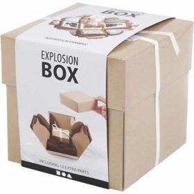 Eksplosjonsbox 12x12x12cm, kvist, 1stk.