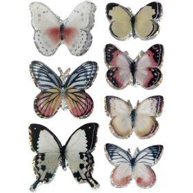 3D stickers sommerfugl natur