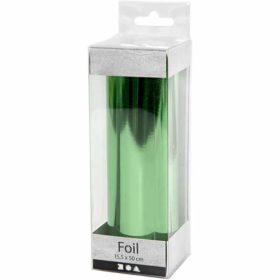 Dekorasjonsfolie 15,5x50cm, grønn