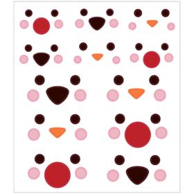 Stickers polardyrs øyne, 1ark