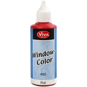 Window-Color 80ml, rød