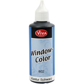 Window-Color 80ml, kontur sort