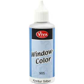 Window-Color 80ml, kontur sølv