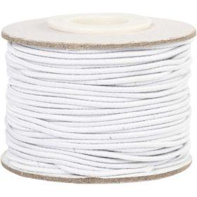 strikk 1mm hvit, 25m