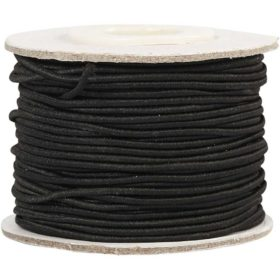strikk 1mm sort, 25m