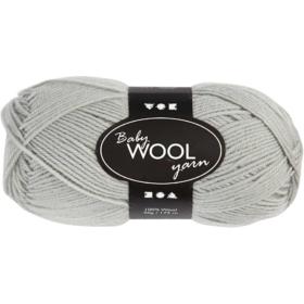 Babyull 100% ull 50g - lysgrå