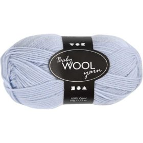 Babyull 100% ull 50g - lysblå
