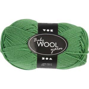 Babyull 100% ull 50g - grønn