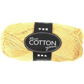 Cotton 100% bomull 50g - gul